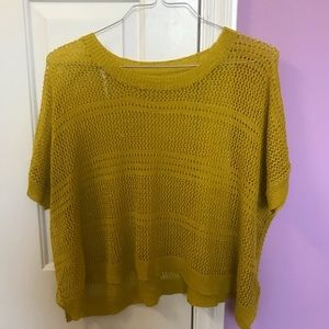 Forever 21 Yellow Sweater Poncho